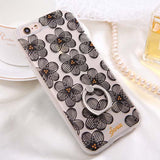 Fashion Sexy Lace Floral Case For iPhone 6 Case For iphone 6S 6 Plus Back Cover Retro Flowers Ring holder Stand Phone Cases HOT! - Hespirides Gifts - 9