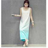 women dress summer loose casual tie die long maxi dresses KB1116 - Hespirides Gifts - 2