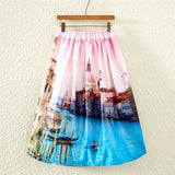 Colorful Fashion Print Casual Ladies Skirt Summer Women A-line Skirt European Style Natural Waisted New Skirts Womens Wear - Hespirides Gifts - 2