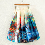 Colorful Fashion Print Casual Ladies Skirt Summer Women A-line Skirt European Style Natural Waisted New Skirts Womens Wear - Hespirides Gifts - 5