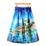 Colorful Fashion Print Casual Ladies Skirt Summer Women A-line Skirt European Style Natural Waisted New Skirts Womens Wear - Hespirides Gifts - 6