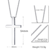 Meaeguet Cross Necklaces&Pendants For Men Stainless Steel 18K Gold Plated Male Pendant Necklaces Prayer Jewelry - Hespirides Gifts - 9