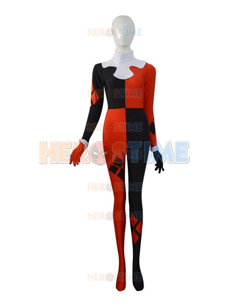 Super Villain Harley Quinn Costumes Halloween Costumes For Women Cosplay Zentai Suit The Most Popular - Hespirides Gifts