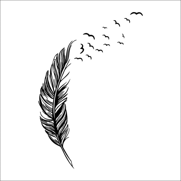 Flying feather wall sticker home decor adesivo de parede home decoration wallpaper wall sticker Living room decor - Hespirides Gifts - 3