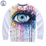 Classic model men/women 3d sweatshirt funny print colorful crying eyes autumn winter thin style casual hoodies - Hespirides Gifts