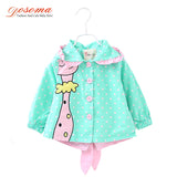 New Baby Girl Clothes Fashion Cute Baby Coats Cartoon Giraffe Infant Jacket Outwear For Girls Spring Autumn Hoody Bow Coat - Hespirides Gifts - 1