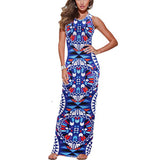 New 2016 Womens Summer Sexy Dress Boho Multicolor Print Sleeveless Casual Beach Party Bodycon Long Maxi Dress Roupa Feminina L3 - Hespirides Gifts - 2