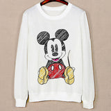 Three Cute Cat Pattern Female Hoodies Spring Harajuku Sweatshirts Long Sleeve O-Neck Pullovers Sudaderas Mujer Sport Hoody - Hespirides Gifts - 3