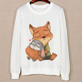 Three Cute Cat Pattern Female Hoodies Spring Harajuku Sweatshirts Long Sleeve O-Neck Pullovers Sudaderas Mujer Sport Hoody - Hespirides Gifts - 6