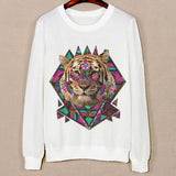 Three Cute Cat Pattern Female Hoodies Spring Harajuku Sweatshirts Long Sleeve O-Neck Pullovers Sudaderas Mujer Sport Hoody - Hespirides Gifts - 9