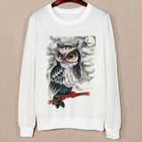 Three Cute Cat Pattern Female Hoodies Spring Harajuku Sweatshirts Long Sleeve O-Neck Pullovers Sudaderas Mujer Sport Hoody - Hespirides Gifts - 7