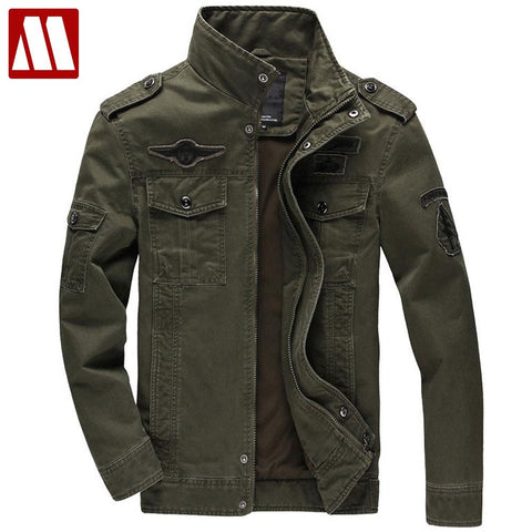 Men Military Army jackets plus size 6XL Brand Hot cost outerwear sports embroidery mens jacket for aeronautica militare - Hespirides Gifts - 1