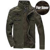 Men Military Army jackets plus size 6XL Brand Hot cost outerwear sports embroidery mens jacket for aeronautica militare - Hespirides Gifts - 2
