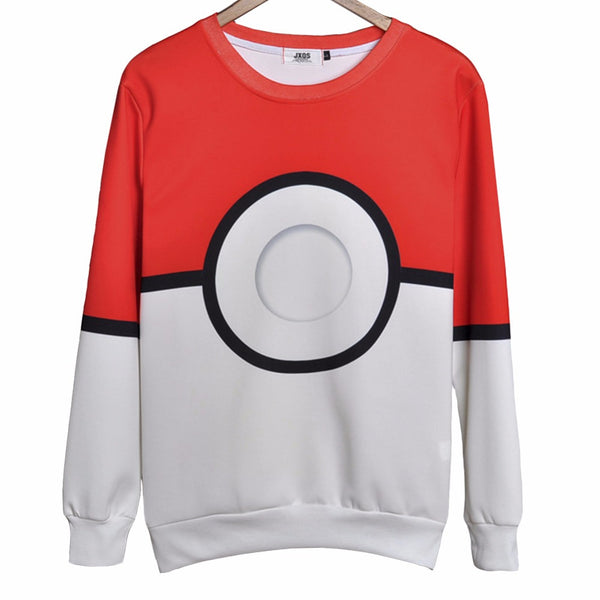 New Autumn 3D Printing Pokemon Go Hoodie Sweatshirt Men O-Neck Full Harajuku Women Hoodies Plus Size Cartoon Casual Clothing - Hespirides Gifts