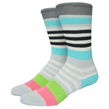 Miss Fire Stanced Girls Socks Nylon Cotton Thin Summer Miea Colorful Strip Candy Color Socks For Men And Women - Hespirides Gifts - 5