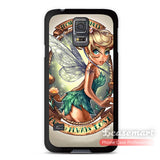 Lovely Cute Tinkerbell Mandala Cover Case For Galaxy S5 S4 S3 s5 mini s4 mini s3 mini Note 4 3 Classic Cartoon Matte Cases - Hespirides Gifts - 1