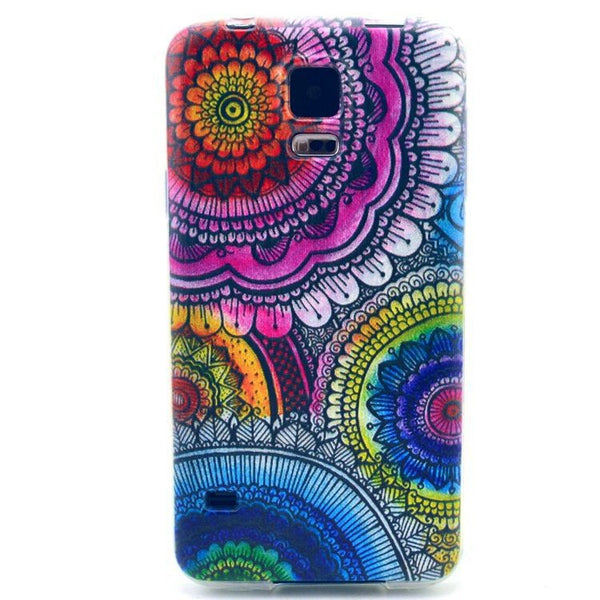 Mandala Design Soft Rubber TPU Case Cover Skin for Samsung Galaxy S5 SV i9600 New Best RB0553 - Hespirides Gifts - 2