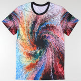 Harajuku Summer Men T Shirts Fashion Tie Dye Colorful Twister 3d Camisetas Short Sleeve Top Tees O Neck Man Casual Camisetas