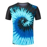Fashion New Cheap Men Tops Tie Dye T Shirts Masculina Harajuku Spiral Tie Dye Unique Designer Tops Tee Men Short Sleeve T-shirt - Hespirides Gifts - 1