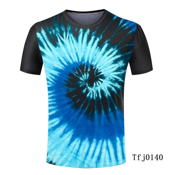 Fashion New Cheap Men Tops Tie Dye T Shirts Masculina Harajuku Spiral Tie Dye Unique Designer Tops Tee Men Short Sleeve T-shirt - Hespirides Gifts - 2
