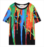 Fashion New t-shirt women brand Digital Printing Painted t shirts Loose Short Sleeve vetements femme summer Tie Dye Shirts - Hespirides Gifts - 4