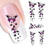 new fashion Stickers & Decals Butterfly Water Transfer Slide Decal Sticker Nail Art Tips To Decoration women - Hespirides Gifts - 2