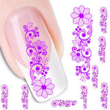 new fashion Stickers & Decals Flower Water Transfer Slide Decal Sticker Nail Art Tips Toe Decor women girl - Hespirides Gifts - 1