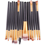 New Functional Makeup Brush Gold Soft Bristles High Quality 15 Pcs Set New Sale - Hespirides Gifts - 2
