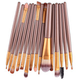 New Functional Makeup Brush Gold Soft Bristles High Quality 15 Pcs Set New Sale - Hespirides Gifts - 5