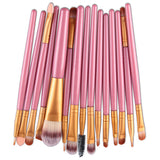 New Functional Makeup Brush Gold Soft Bristles High Quality 15 Pcs Set New Sale - Hespirides Gifts - 3