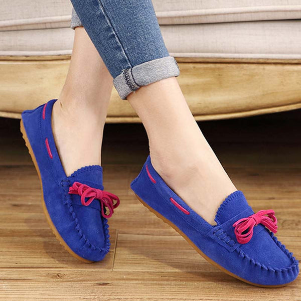 Hot Sale Genuine Leather women Flats Spring Autumn candy color Casual Shoes high quality Female Leather shoes - Hespirides Gifts - 5