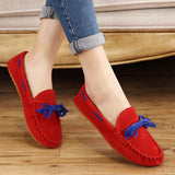 Hot Sale Genuine Leather women Flats Spring Autumn candy color Casual Shoes high quality Female Leather shoes - Hespirides Gifts - 14