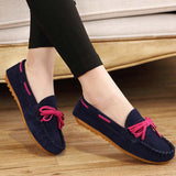 Hot Sale Genuine Leather women Flats Spring Autumn candy color Casual Shoes high quality Female Leather shoes - Hespirides Gifts - 9