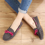 Hot Sale Genuine Leather women Flats Spring Autumn candy color Casual Shoes high quality Female Leather shoes - Hespirides Gifts - 3