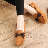 Hot Sale Genuine Leather women Flats Spring Autumn candy color Casual Shoes high quality Female Leather shoes - Hespirides Gifts - 2