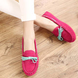 Hot Sale Genuine Leather women Flats Spring Autumn candy color Casual Shoes high quality Female Leather shoes - Hespirides Gifts - 10