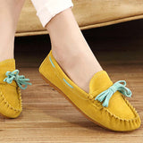 Hot Sale Genuine Leather women Flats Spring Autumn candy color Casual Shoes high quality Female Leather shoes - Hespirides Gifts - 11