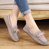 Hot Sale Genuine Leather women Flats Spring Autumn candy color Casual Shoes high quality Female Leather shoes - Hespirides Gifts - 12