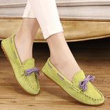 Hot Sale Genuine Leather women Flats Spring Autumn candy color Casual Shoes high quality Female Leather shoes - Hespirides Gifts - 7