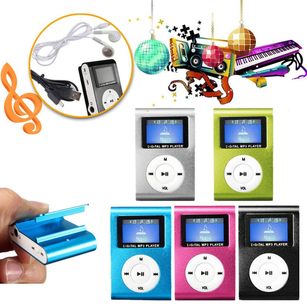 New Original Portable MP3 Music Player LCD Screen Mini Clip Multicolor MP3 Player With Micro TF/SD Card Slot Electronic Products - Hespirides Gifts
