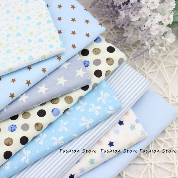 Twill 8 pcs Cartoon Cotton Fabric for DIY Patchwork Sewing Kids Bedding Bags Dot Tilda Doll Cloth Textiles Fabric 40*50cm - Hespirides Gifts