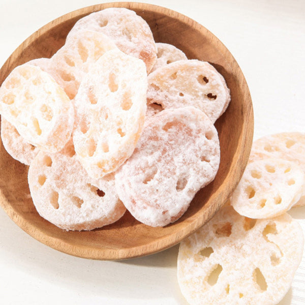 Lotus Root Snacks Chinese Sweet Food Candy Make by Rhizome of Lotus Tasty Health Natural Snack Foods 9009-45 - Hespirides Gifts