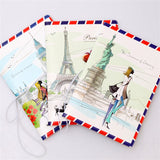 Fashion Miss love travel Passport Cover ID Credit Card Bag 3D Design PVC Leather Business Card Holder Passport Holder 14*9.6CM - Hespirides Gifts - 1