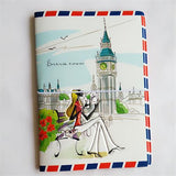 Fashion Miss love travel Passport Cover ID Credit Card Bag 3D Design PVC Leather Business Card Holder Passport Holder 14*9.6CM - Hespirides Gifts - 17