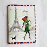 Fashion Miss love travel Passport Cover ID Credit Card Bag 3D Design PVC Leather Business Card Holder Passport Holder 14*9.6CM - Hespirides Gifts - 4