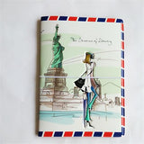 Fashion Miss love travel Passport Cover ID Credit Card Bag 3D Design PVC Leather Business Card Holder Passport Holder 14*9.6CM - Hespirides Gifts - 20