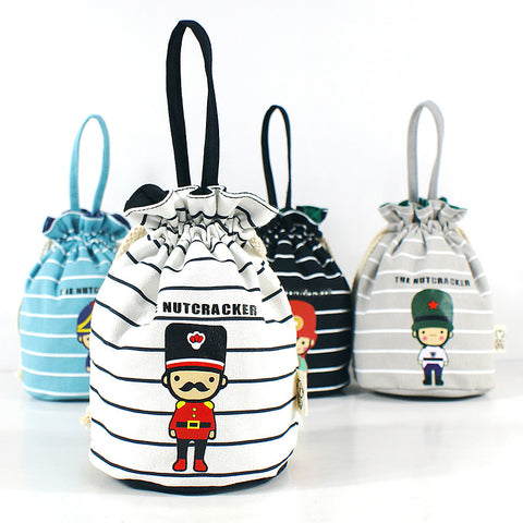 Children Kids Girls String Bucket Cartoon Soldiers Handbag Bag Phone Canvas Allowance Pocket Handbags Christmas Gifts