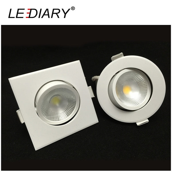 PC Round/Square Recessed Led Downlight COB LED Spot Lamp Real >5W Angle Adjustable Ceiling Downlight LED Decoration Ceiling Lamp