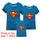 Family Matching Clothes Parent Kid Look Superman T Shirts Summer Father Mother Kids Cartoon Outfits New Cotton Tees Drop - Hespirides Gifts - 10
