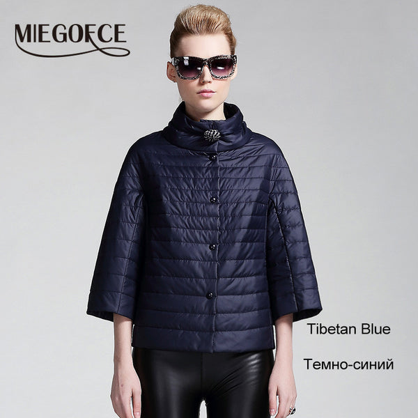 MIEGOFCE new spring short jacket women fashion coat padded cotton jacket outwear High Quality Warm parka Women's Clothing - Hespirides Gifts - 2